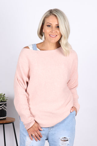 Celeste Knit in Soft Pink