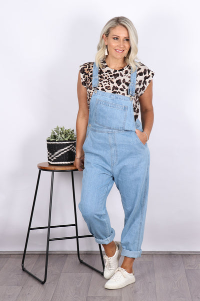 Windsor Denim Overalls in Light
