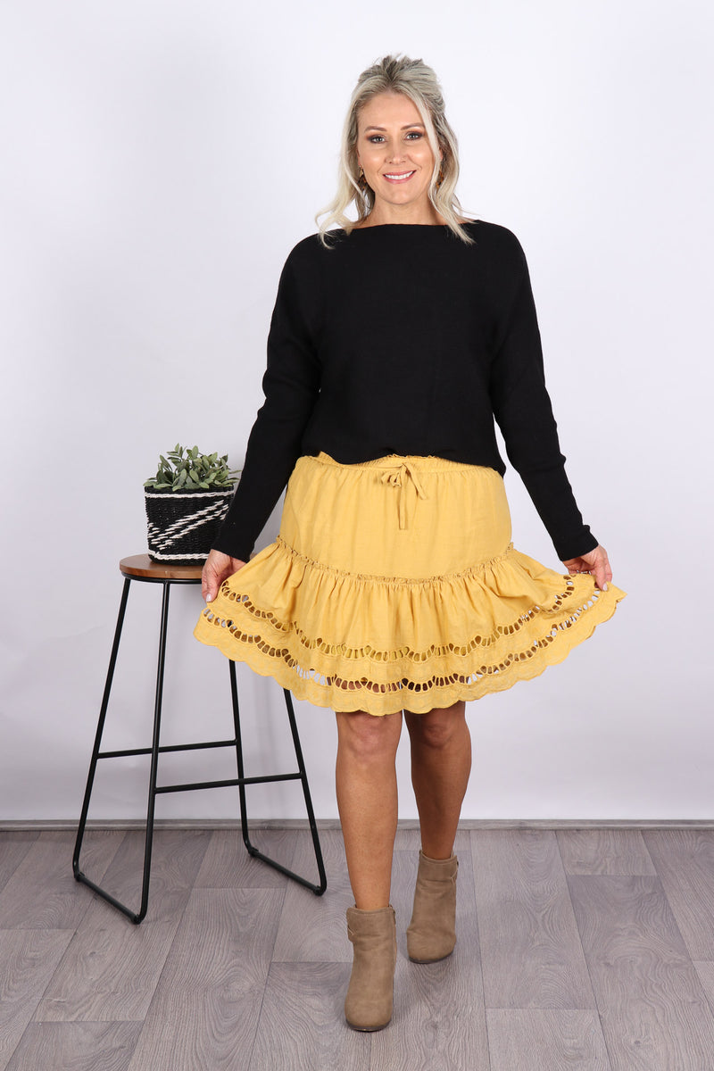Ashwood Skirt in Mustard