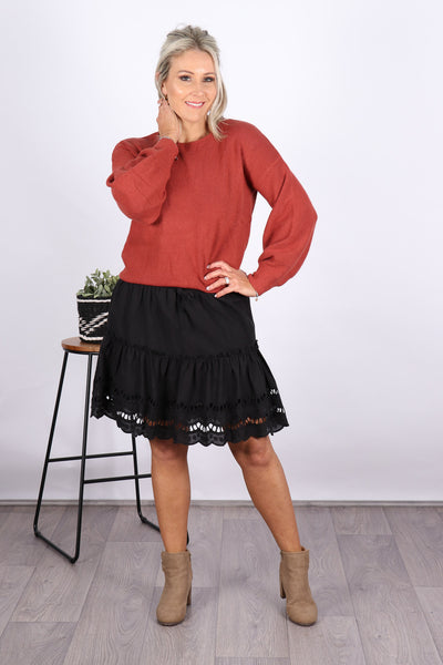Ashwood Skirt in Black