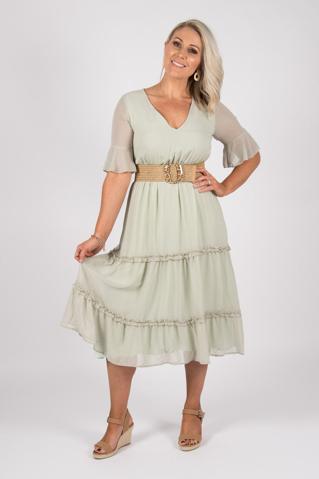 Chantelle Dress in Sage