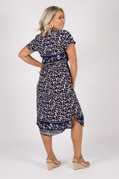 Everlast Midi Dress in Navy