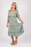 Chantelle Dress in Sage Floral