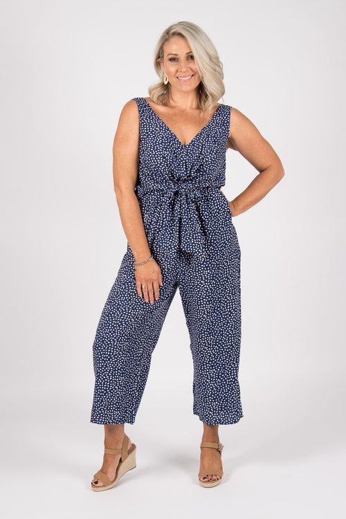 Davis Jumpsuit in Navy