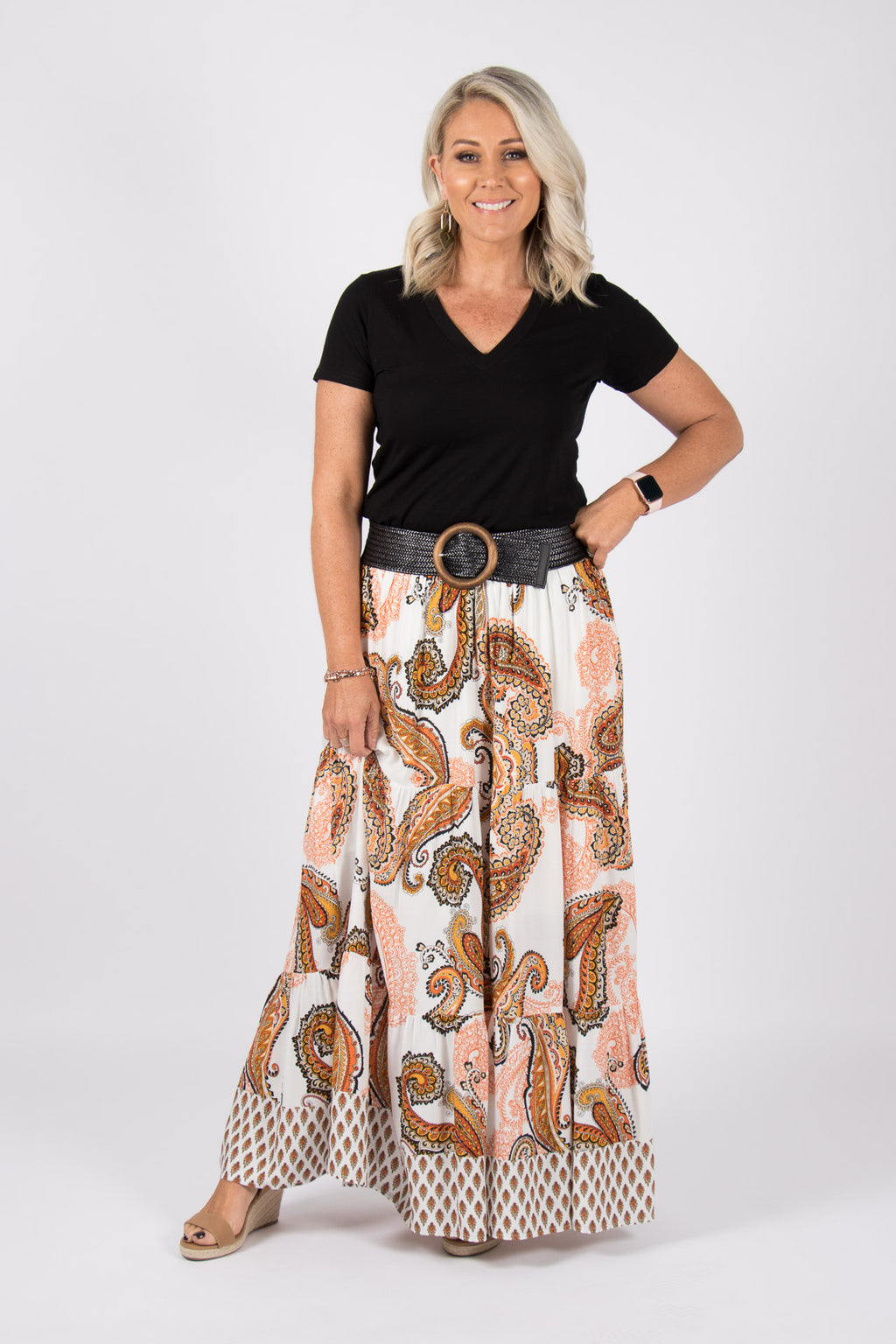 Newman Maxi Skirt in White