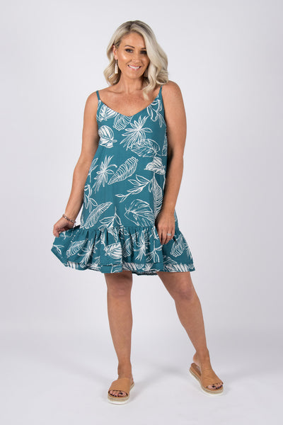 Silvan Dress in Teal