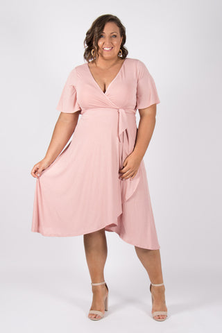 Lyndhurst Wrap Dress in Pink
