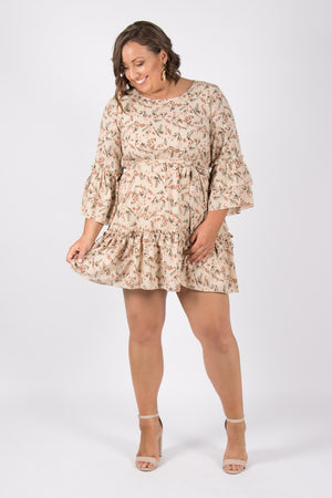 Aries Dress in Beige