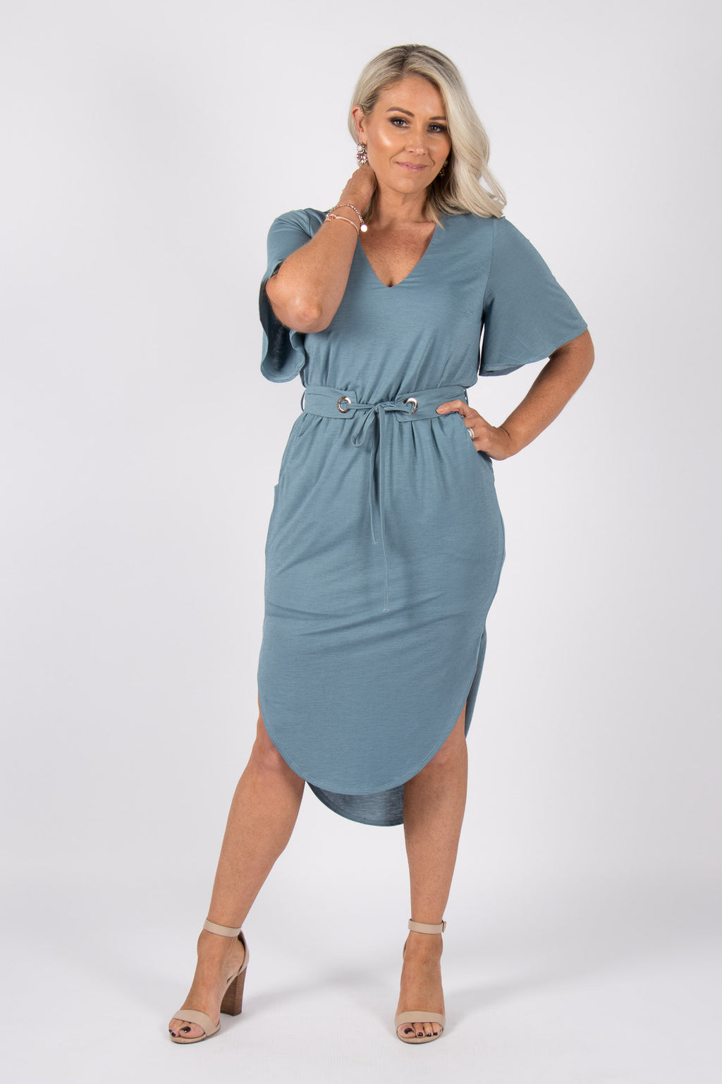 Daydream Dress in Blue Steel