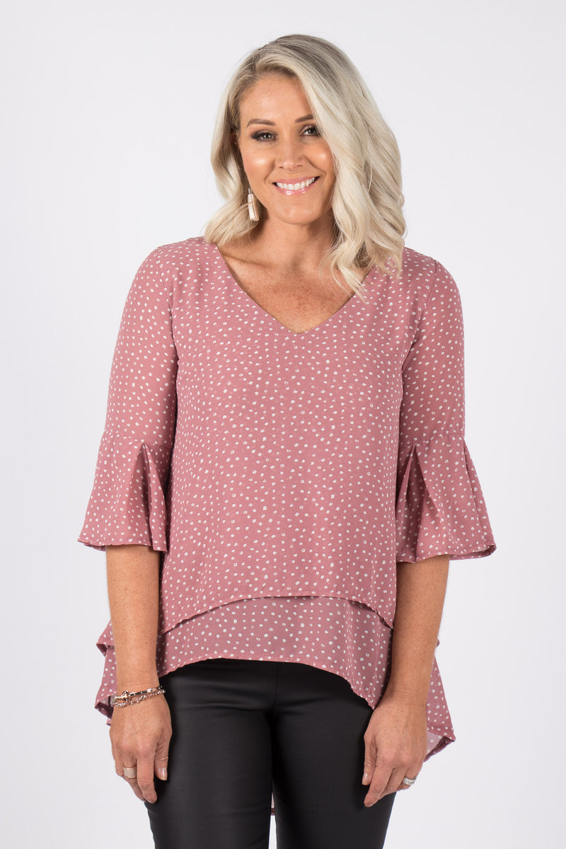 Elliot Top in Dark Blush