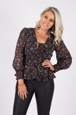 Corin Top in Black