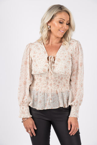 Corin Top in Cream