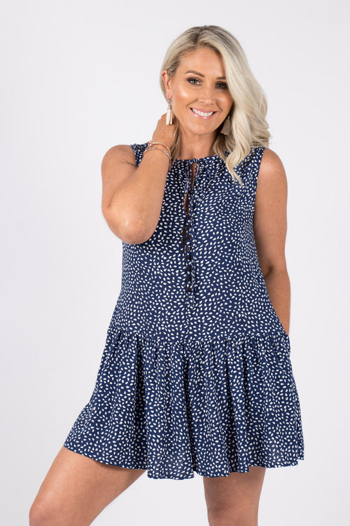 Lalor Playsuit in Navy