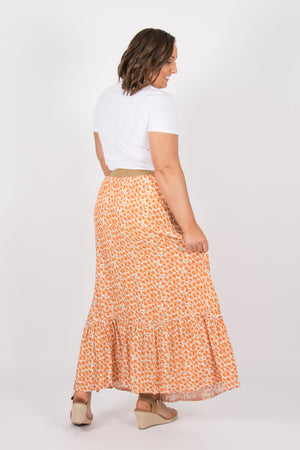 Aberline Maxi Skirt in Rust