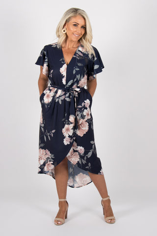 Sharni Dress in Navy