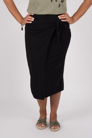 Lana Midi Skirt in Black