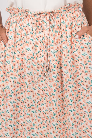 Aberline Maxi Skirt in Peach Blossom