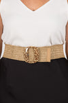 Rory Stretch Belt in Leopard/Square