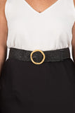 Vanessa Stretch Belt in Black/Circle