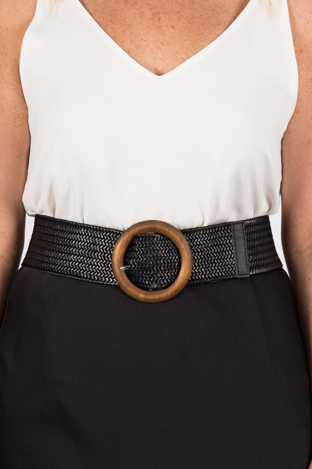 Indie Stretch Belt in Black/Circle