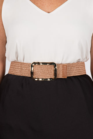 Maddison Stretch Belt in Blush