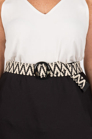 Iris Belt in Black & Natural