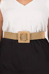 Tenzin Stretch Belt in Natural/Square