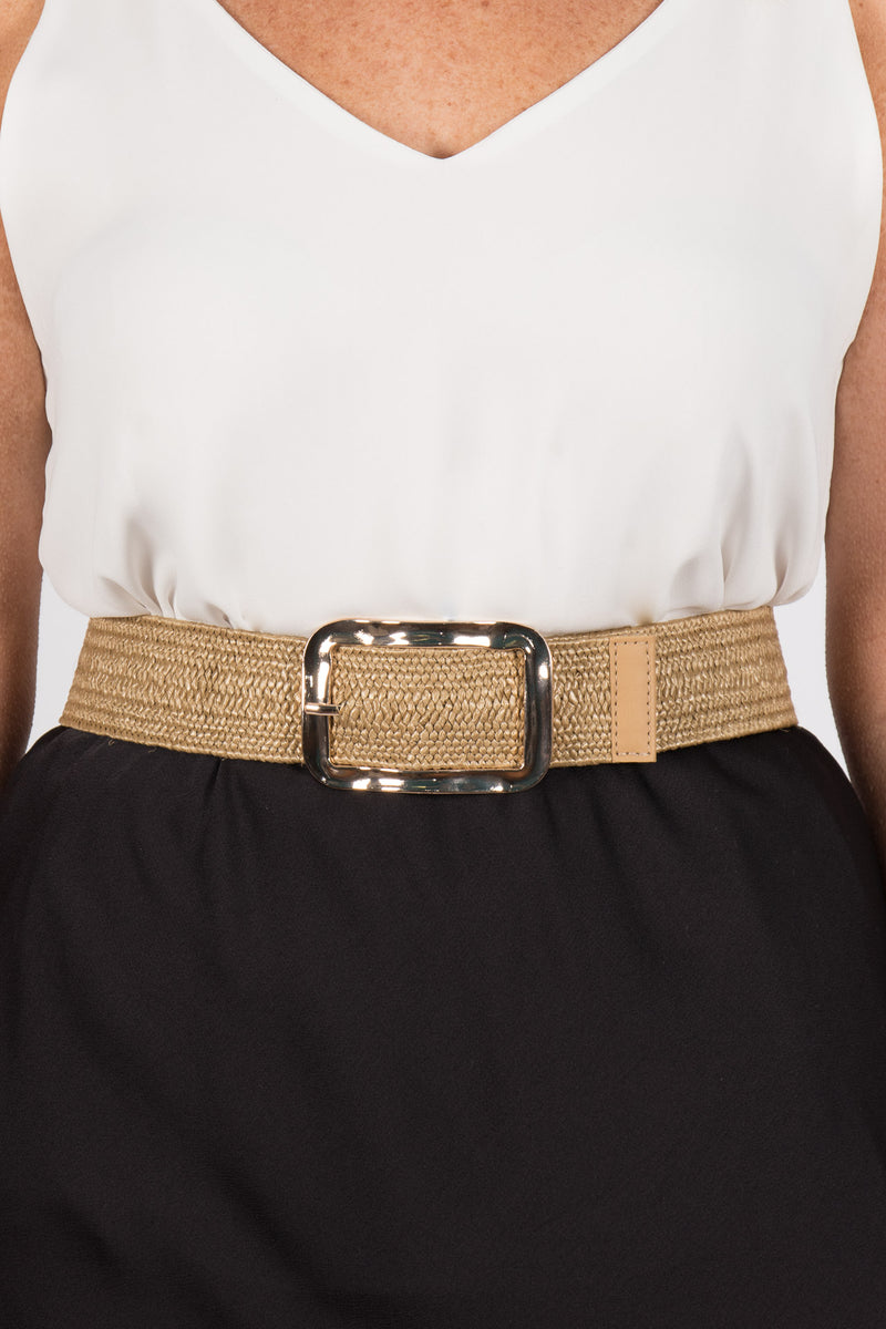 Maddison Stretch Belt in Natural
