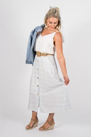 Rowan Skirt in Blue