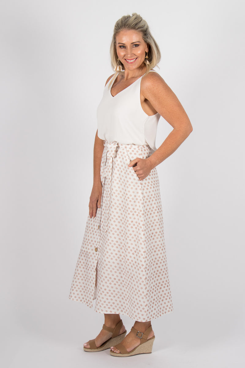 Rowan Skirt in Dark Blush