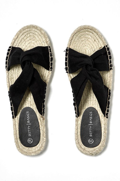Coastal Espadrille Slide in Black