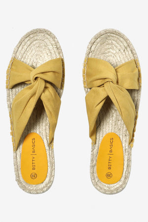 Coastal Espadrille Slide in Mango