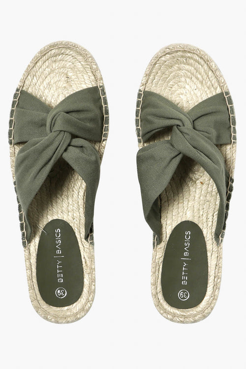 Coastal Espadrille Slide in Khaki