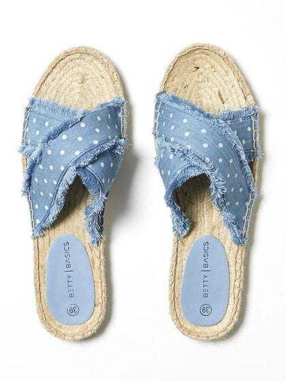 Seeker Espadrille Slide Chambray Spot
