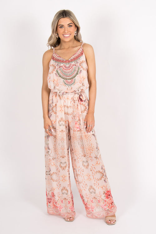 Tranquil Jumpsuit in Peach