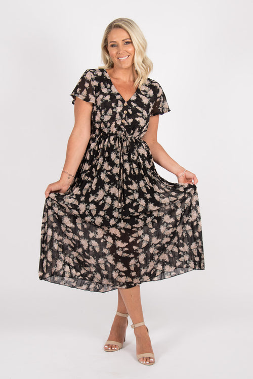 Camille Dress in Black Floral