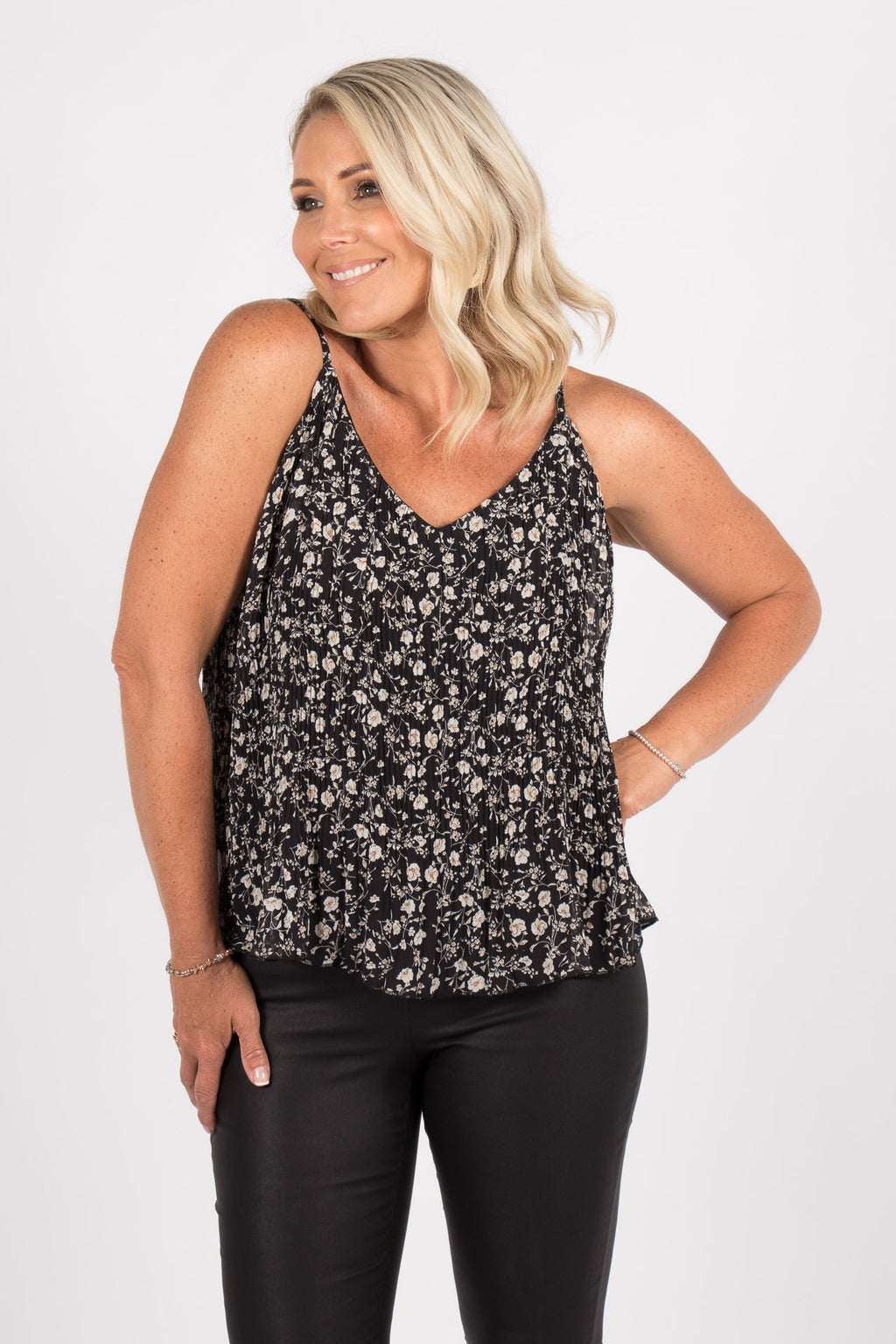 Faithful Cami in Black Floral
