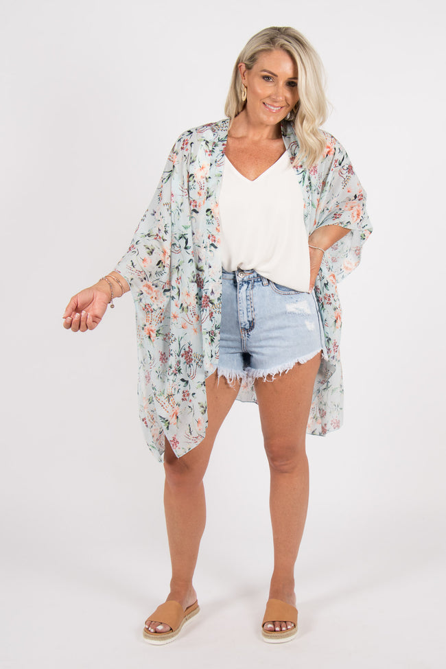 Bailey Cape in Sky Blue