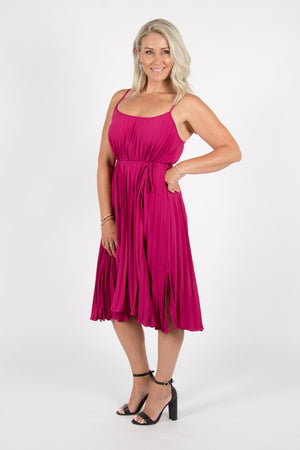 Darling Dress in Fuchsia