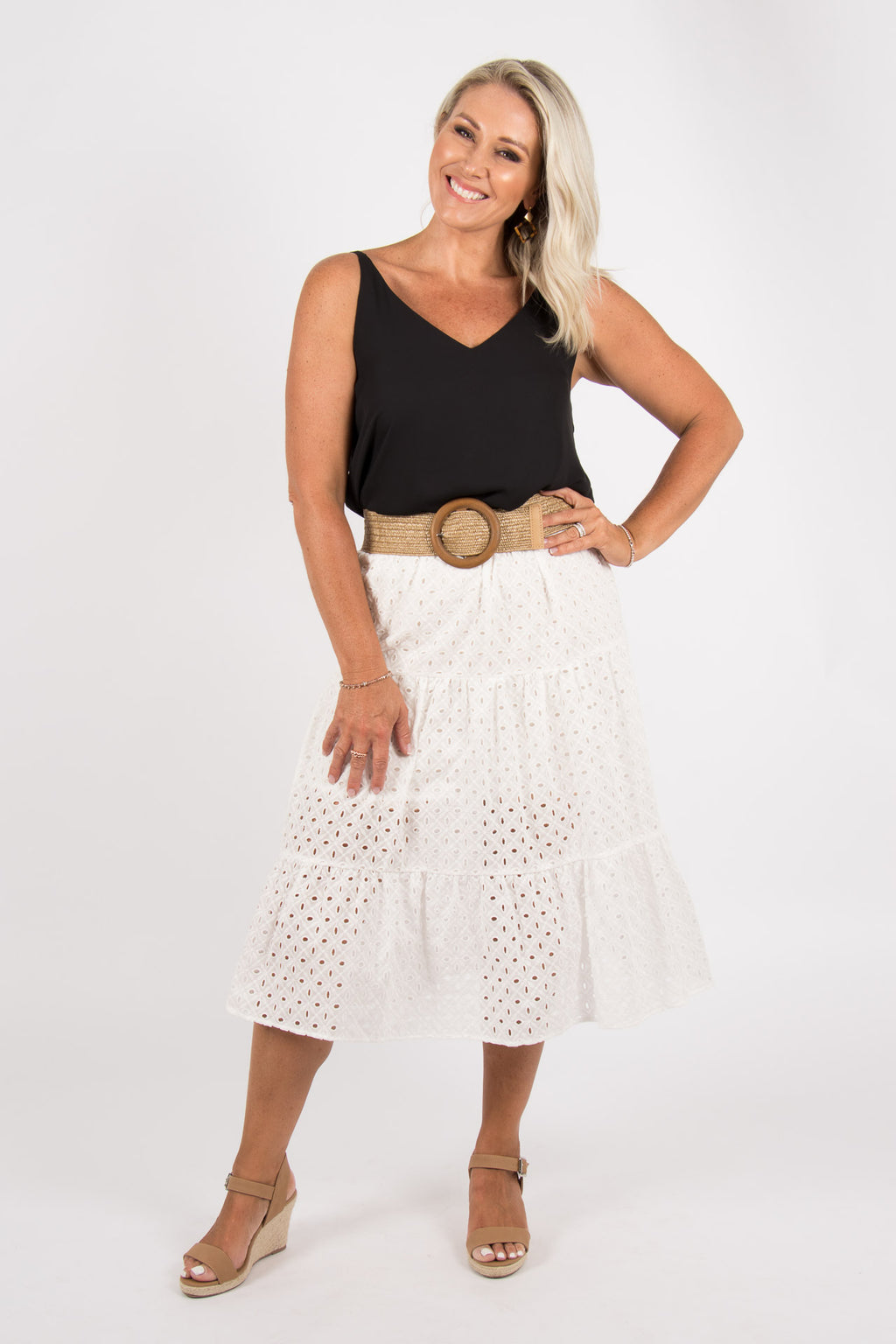 Kendra Skirt in White