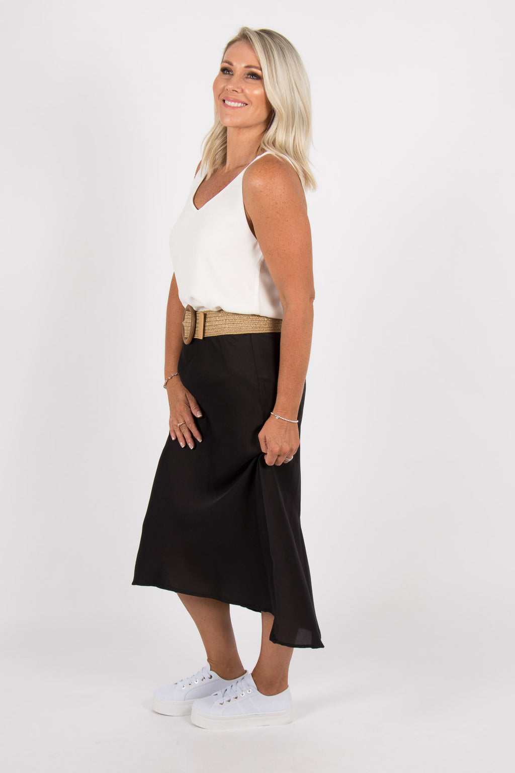 Rani Midi Skirt in Black