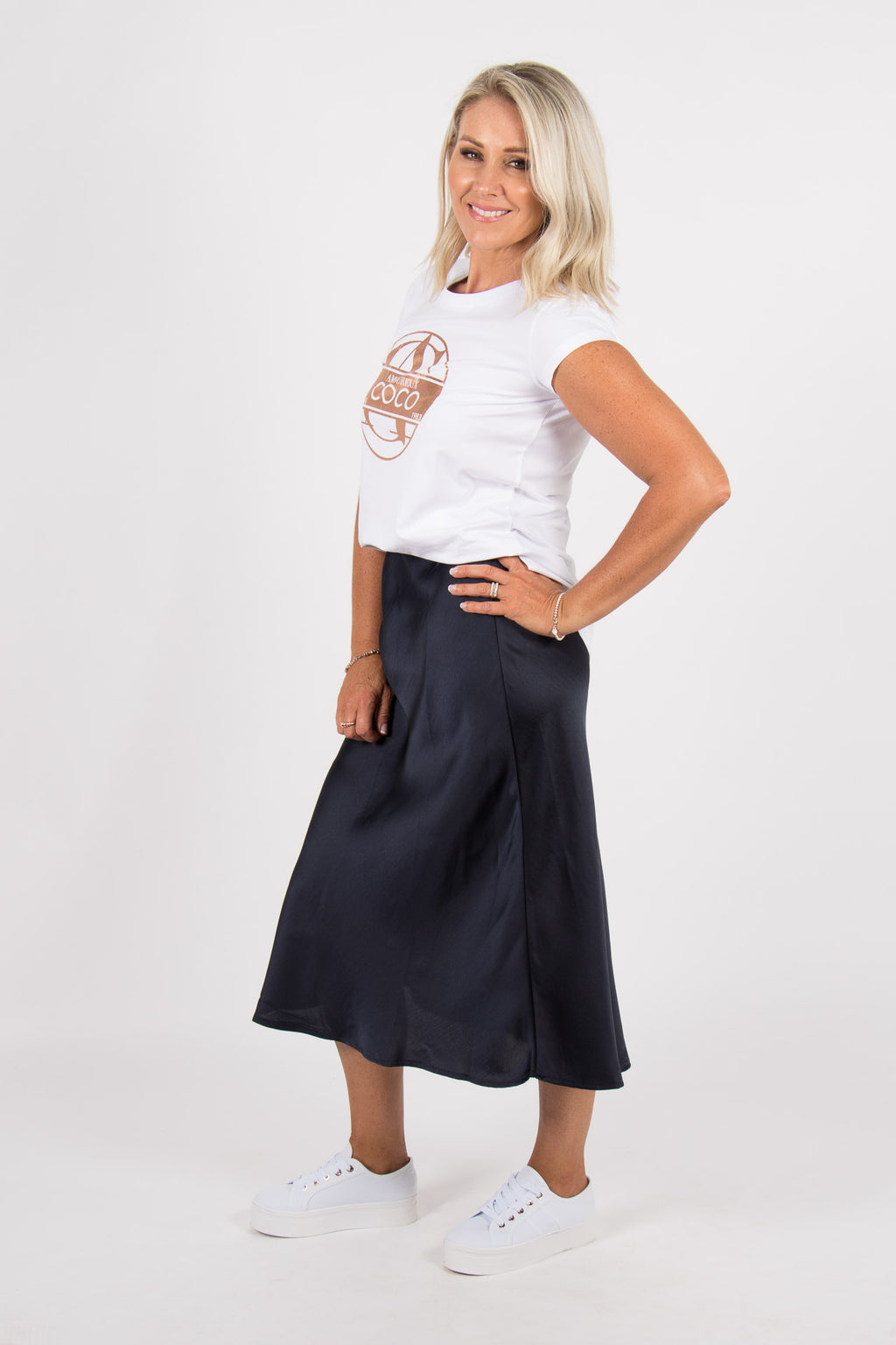 Doveton Skirt in Navy