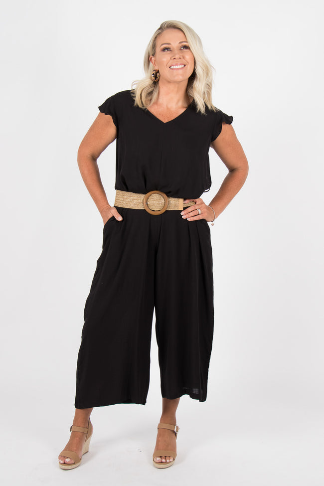 Agonia Frill Pantsuit in Black