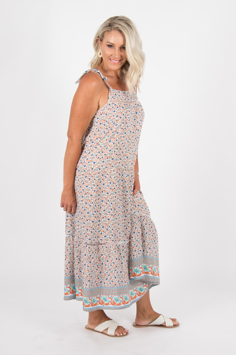 Reagan Maxi Dress in Blue