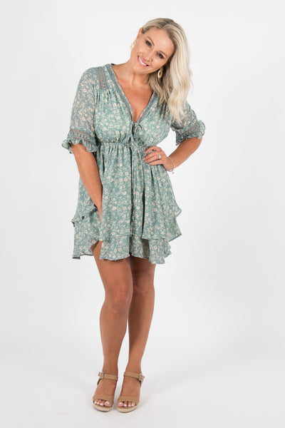 Dynamic Dress in Sage