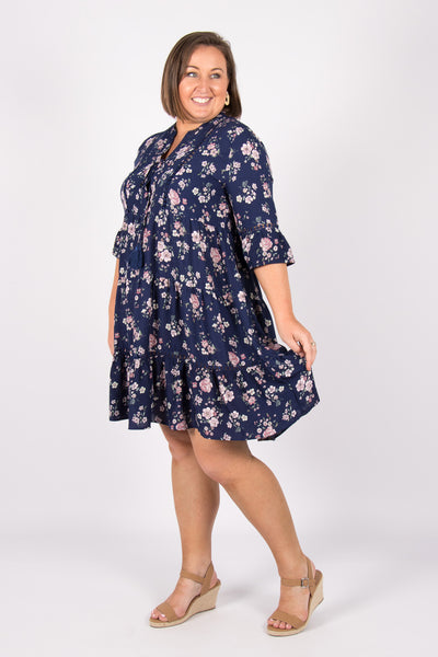 Suzie Dress in Navy