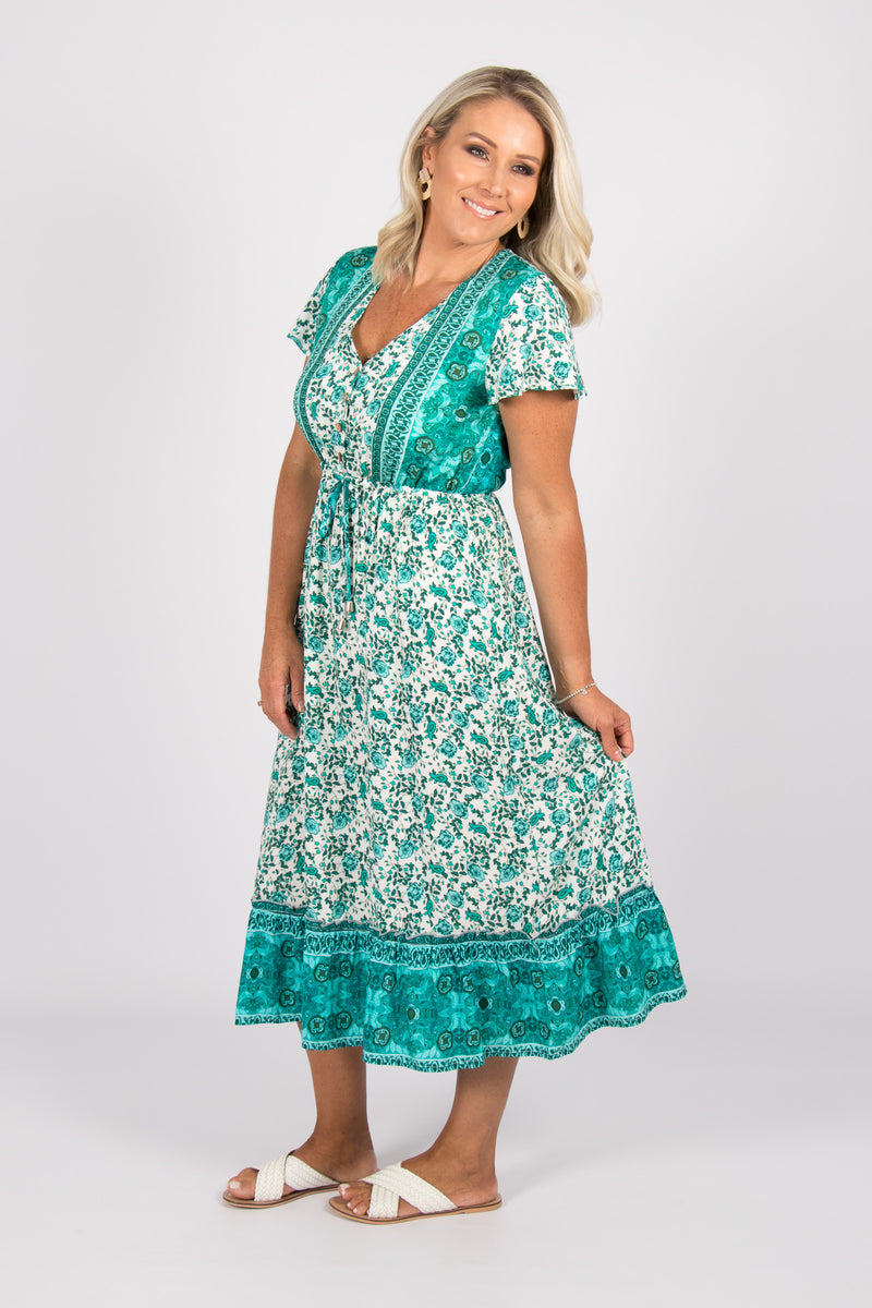 Dune Dress in Turquoise