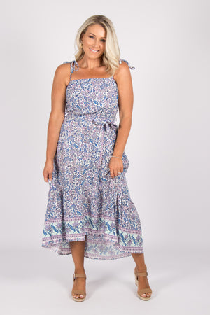 Everly Dress in Blue