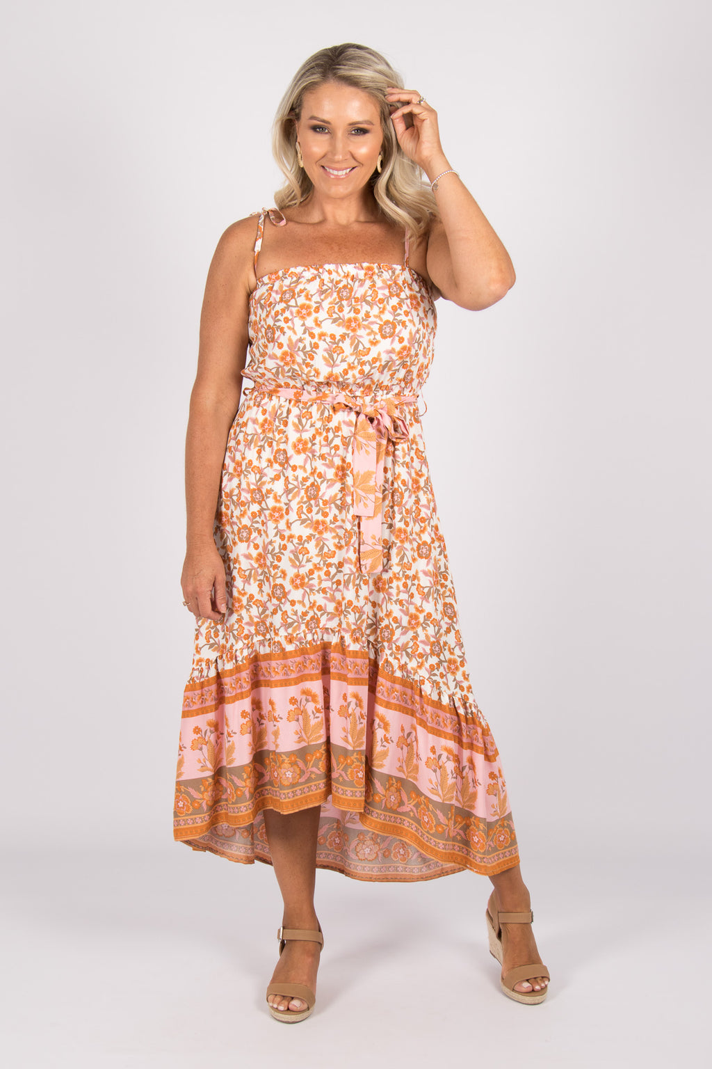 Everly Dress in Orange