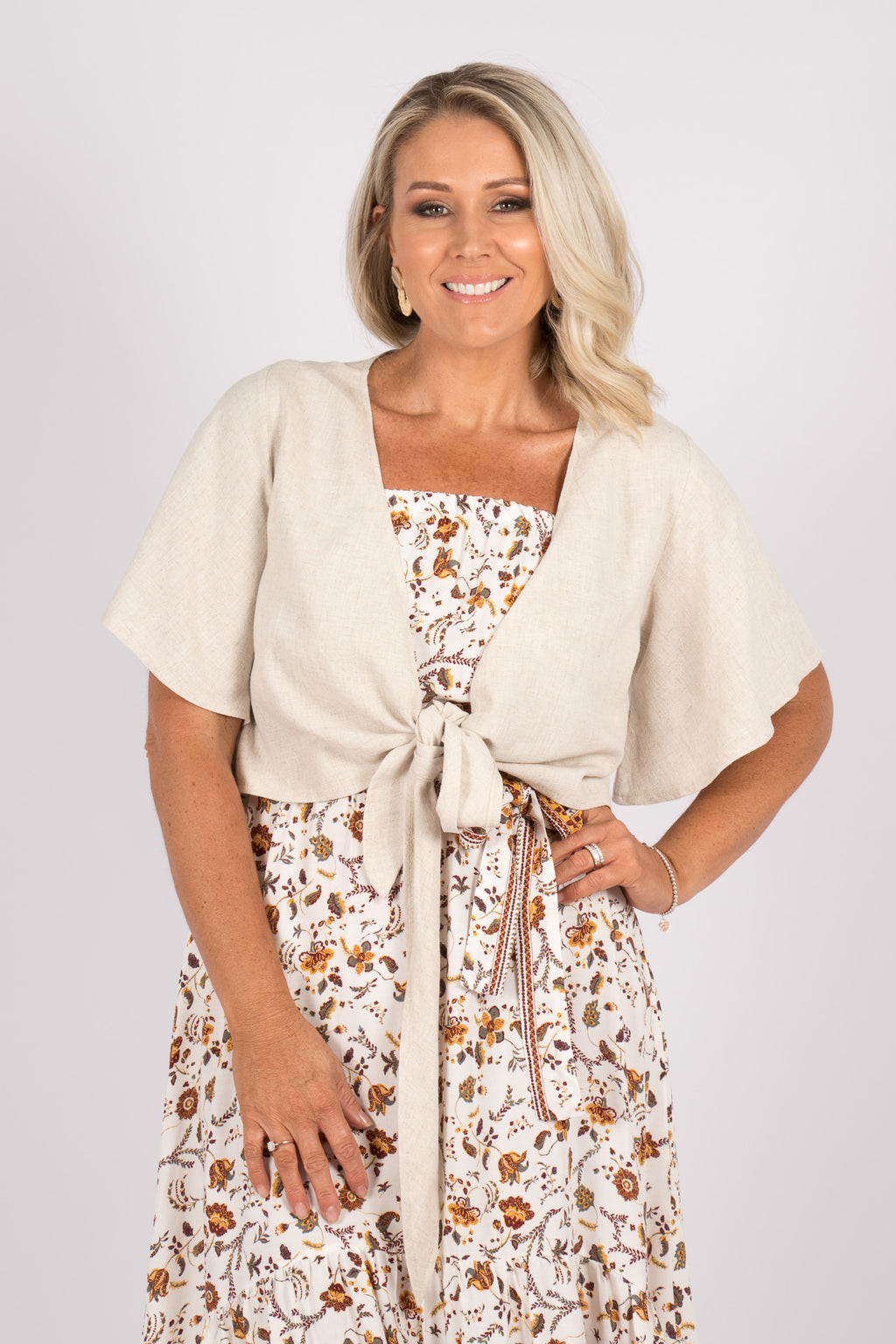 Anna Tie Top in Natural